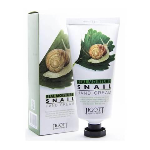 Jigott Крем для рук с улиткой Real moisture snail hand cream 100 мл