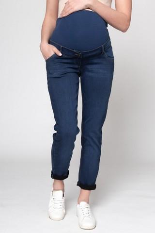 Утепленные джинсы для беременных (BOYFRIEND) 12298 синий