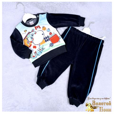Костюм велюр детский (74-92) 210609-SH54088
