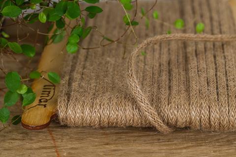 Джутовый плетеный шнур 5 мм