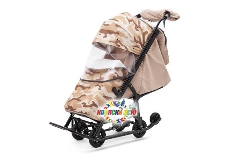 Санки коляска PIKATE Military «Бежевый»