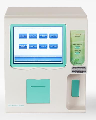 Автоматический гематологический анализатор MicroCC-20 Plus на 20 параметров с дифференциацией лейкоцитов на 3 популяции и построением 3 гистограмм