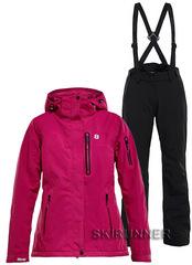 Тёплый горнолыжный костюм Folven Fuchsia Ewe Black женский