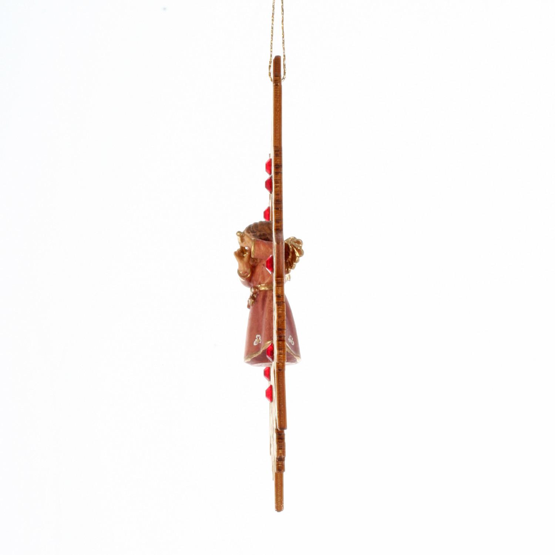 Ангел с флейтой со стразами Сваровски
