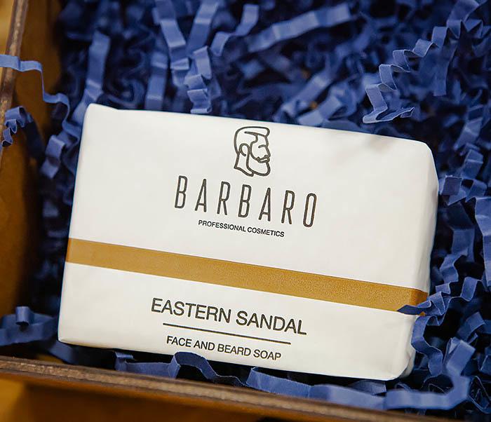 Набор для ухода за бородой, мыло и масло Barbaro «Eastern Sandal» фото 02