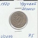 V0694 1970 Уругвай 20 песо