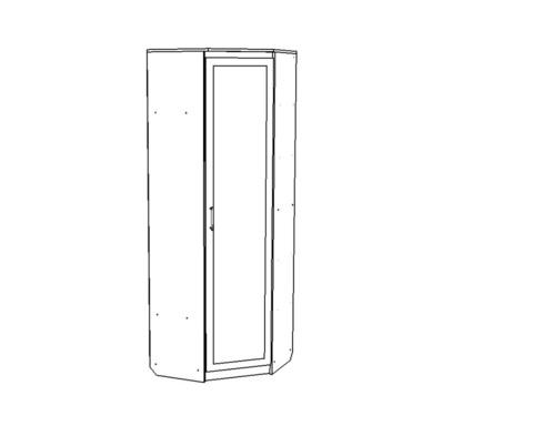 Шкаф ВЕНА угловой с зеркалом /763*2200*763/ правый