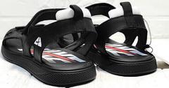 Черные сандали босоножки мужские кожа Nike 40-3 Leather Black.