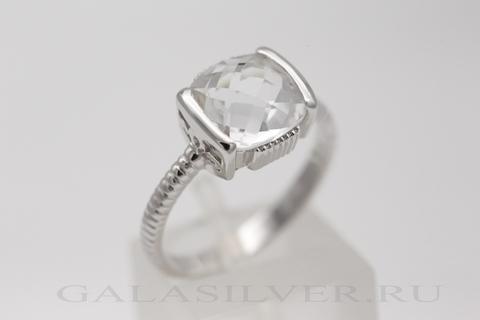 Кольцо с горным хрусталем из серебра 925
