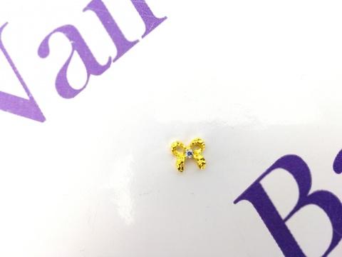Украшения для ногтей из металла (золотой бант)