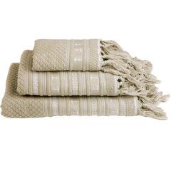 Santorini anchors towel set / beige