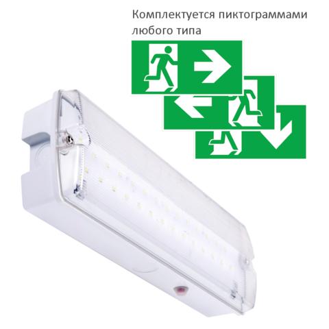 Светодиодный световой указатель выход с аккумулятором Orion LED 150 IP65 Intelight – общий вид