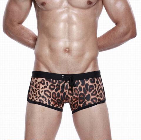 Мужские плавки леопардовые Seobean Leopard Swimsuit