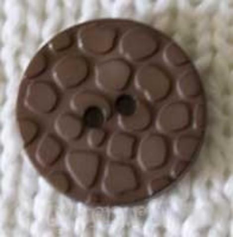 Пуговица с пупырышками, коричневая
