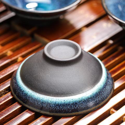 Набор для чайной церемонии Звездное небо, 7 предметов: чайник 140 мл, 6 чашек 40 мл, цвет синий