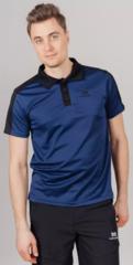 Поло спортивное Nordski Blue/Black мужское