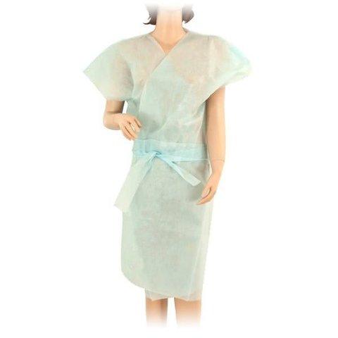 Халат кимоно SMS (люкс) без рукавов Голубой 10шт