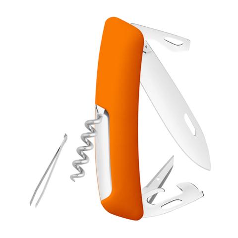 Швейцарский нож SWIZA D03 Standard, 95 мм, 11 функций, оранжевый