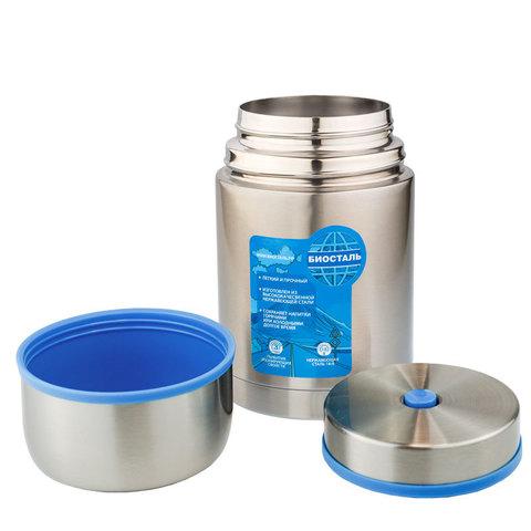 Термос для еды Biostal Авто (0,6 литра) с термочехлом, медный