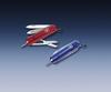 Нож-брелок Victorinox Classic Signature, 58 мм, 7 функций, полупрозрачный синий