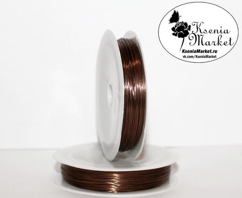 Проволока 0,5мм 20метров коричневая