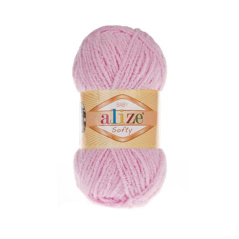 Пряжа Alize Softy розовый 185