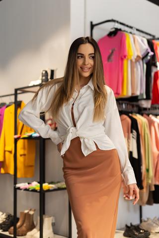 Платье-комбинация с рубашкой сверху оптом