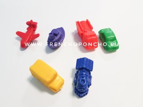 Транспорт. 6 фигурок. Развивающие пособия на липучках Frenchoponcho (Френчопончо)