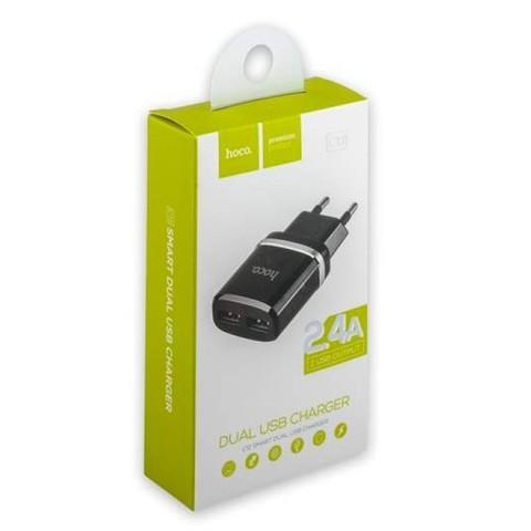 Зарядное устройство Hoco (2USB) 2,4А (черный)
