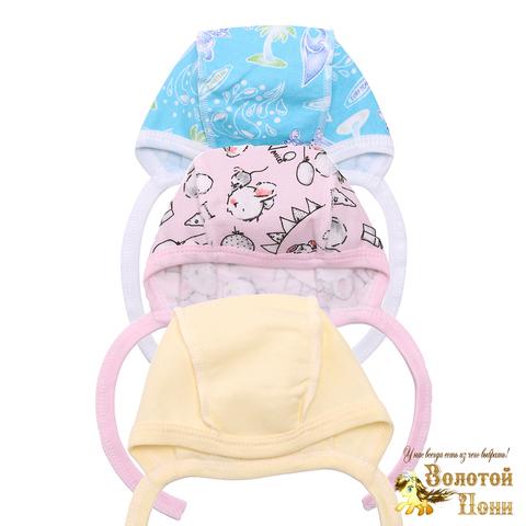 Чепчик хлопок новорожденным (0-3) 201029-А8001