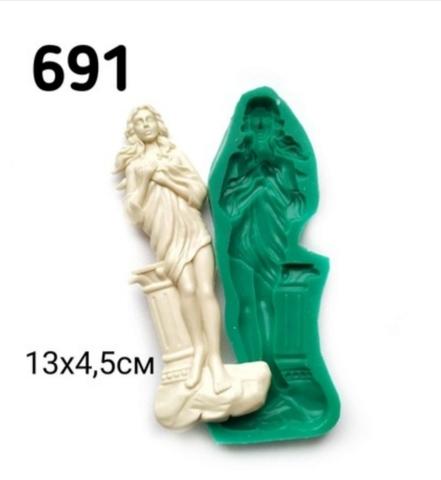 Молд Девушка с колонной, 13.5х4см., Арт.PO-0691, силикон