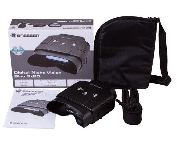 Бинокль ночного видения Bresser 3x20, цифровой - фото 2 - комплект поставки