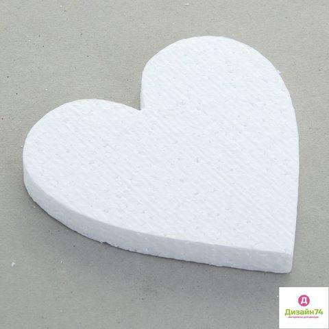 Пенопластовое сердце 50х40х10мм