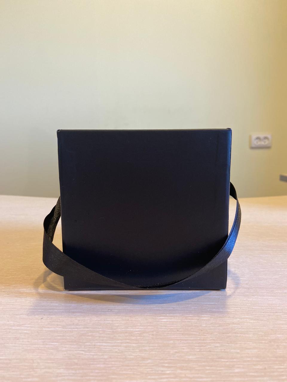 Кубическая коробка 11х11х11 см . Без крышки . Цвет: Черный  . Розница 200 рублей