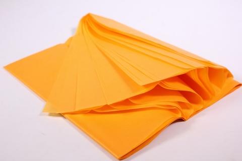 Бумага Тишью оранжевая 50*65 см, 10 листов