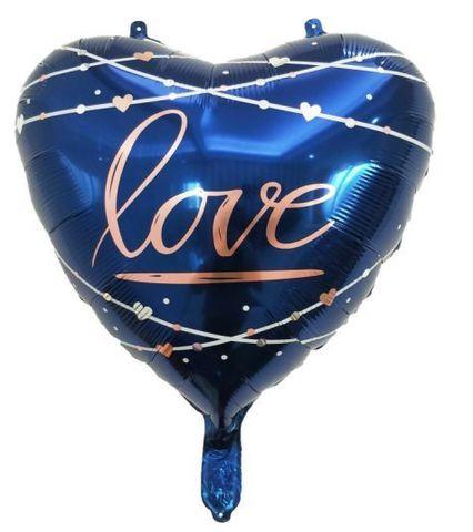 Сердце Love синее