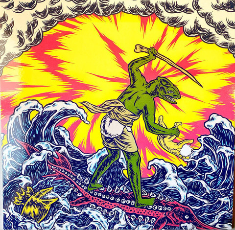 King Gizzard & The Lizard Wizard – Teenage Gizzard Yellow / Red Marbled