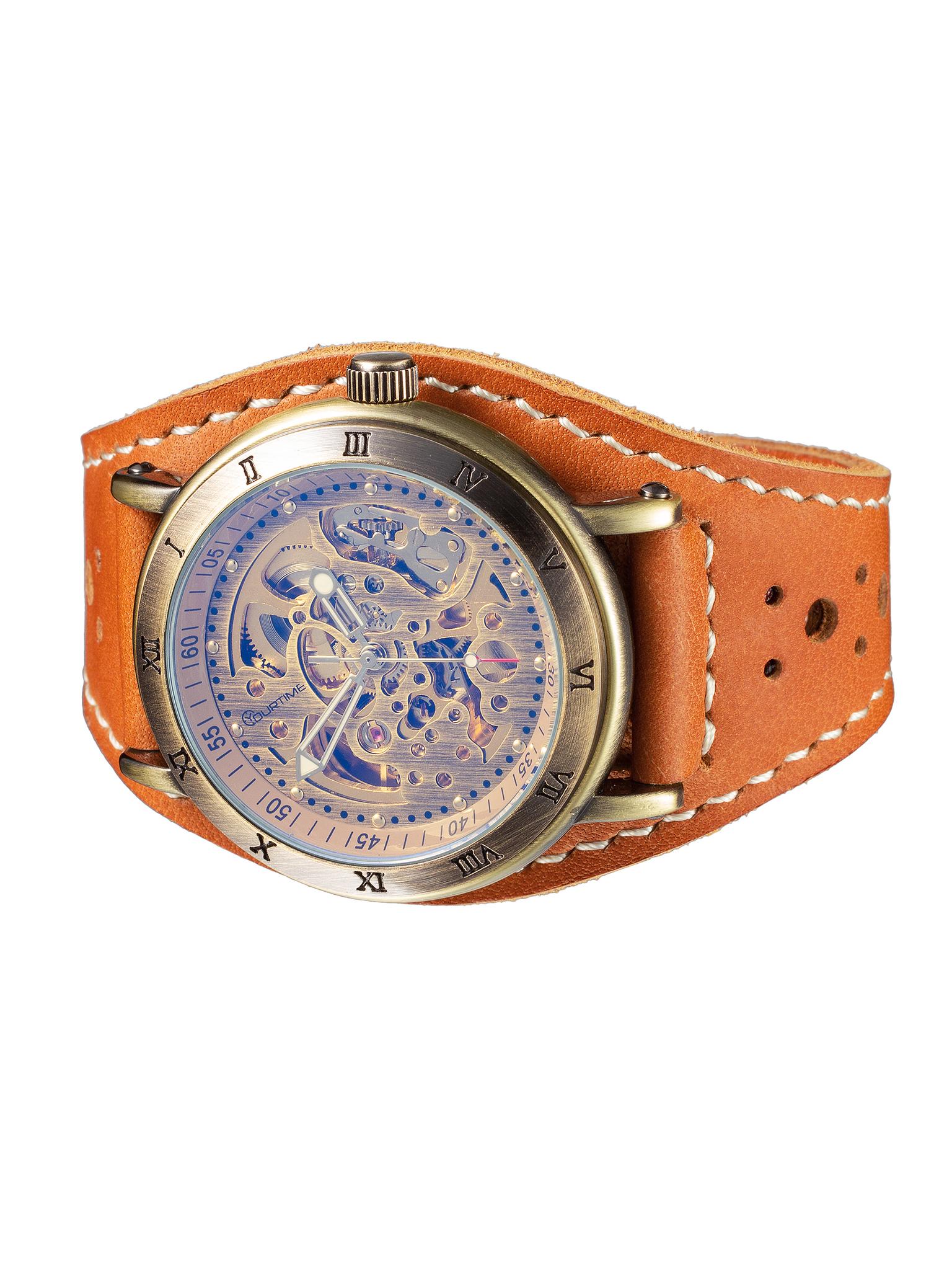 Часы скелетоны мужские механические Archer YOURTIME