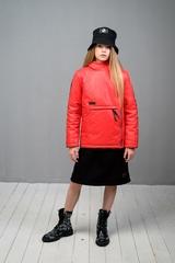 Куртка-анорак для девочки красный