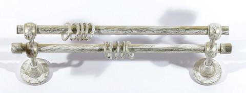 Карниз Кованый Белое золото 3.0м (гладкая труба D16)
