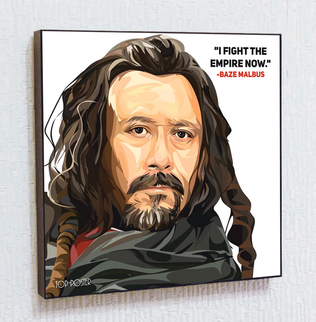 Купить картину постер ПОП-АРТ Бэйз Мальбус | STAR WARS | Звездные Войны