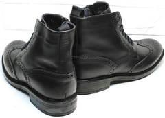Мужские зимние ботинки на натуральном меху  LucianoBelliniBC3801L-Black
