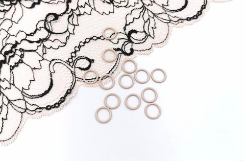 Кольца, 10 мм, металл, серебристый пион, (Арт: КО/10-168), шт