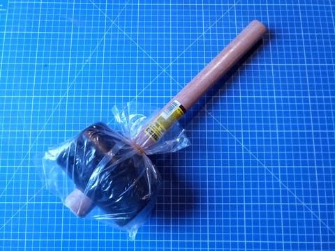 STAYER  900г Чёрная резиновая киянка с деревянной рукояткой