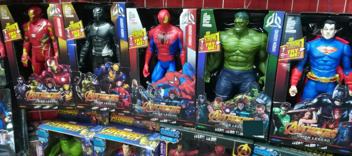Набор больших супер-героев по 30 СМ(5 штук)
