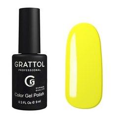 Grattol, Гель-лак 034, Yellow, 9 мл
