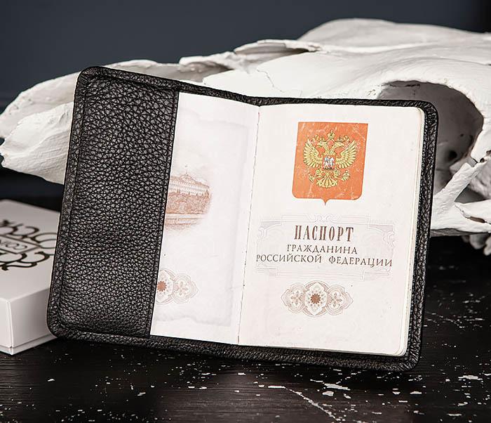 BC216-5 Обложка для паспорта из мягкой кожи «Hanz» фото 05