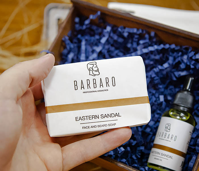 Набор для ухода за бородой, мыло и масло Barbaro «Eastern Sandal» фото 04