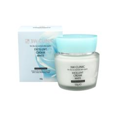 Осветляющий крем для лица 3W Clinic с растительными экстрактами 50 гр