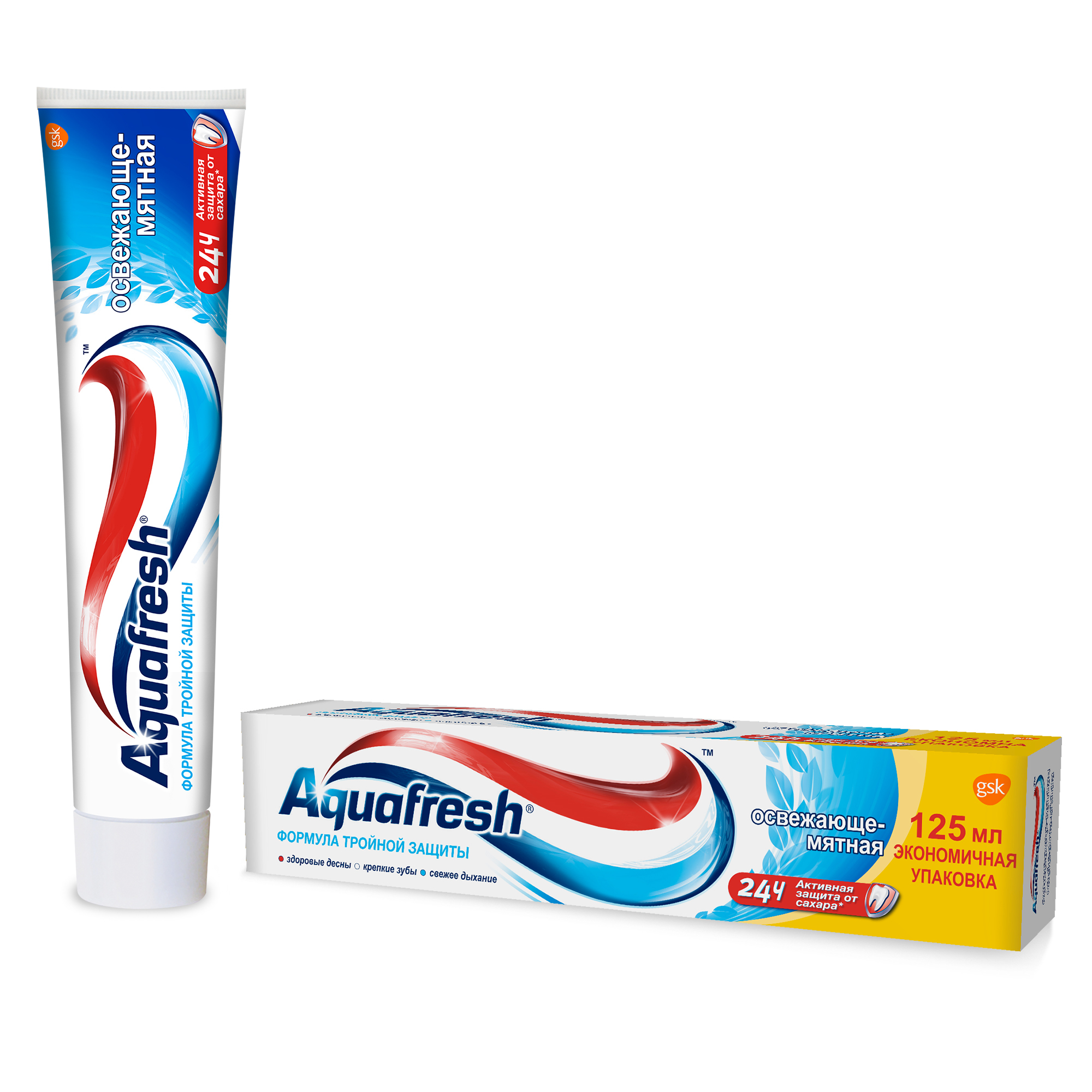 Зубная паста AquaFresh Освежающе-Мятная 100мл